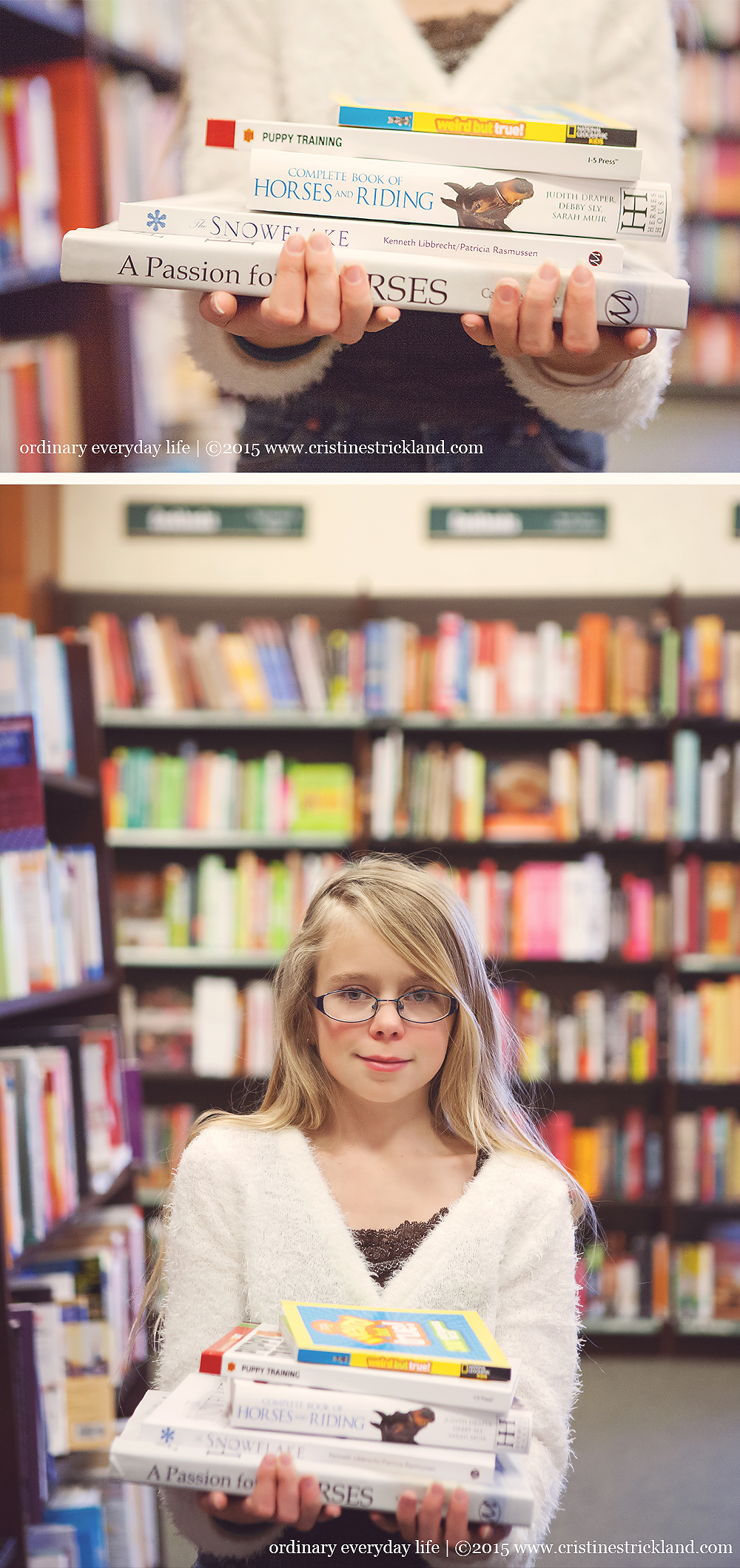 bookstore photo session grand junction colorado