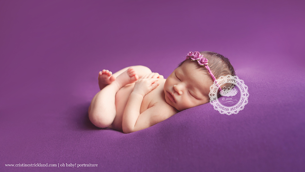 grand junction newborn baby girl in purple